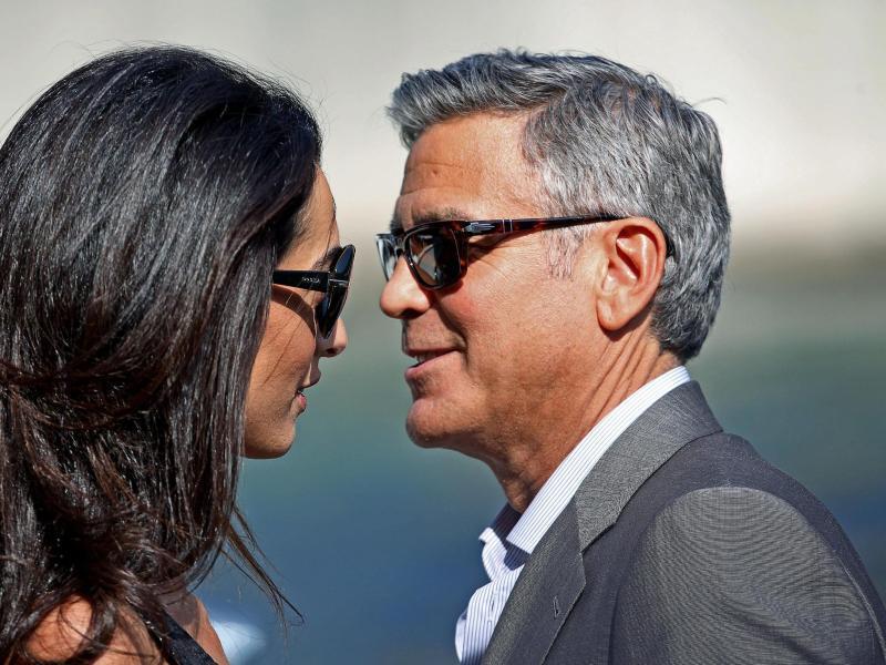Bild zu Hochzeit Clooney + Alamuddin