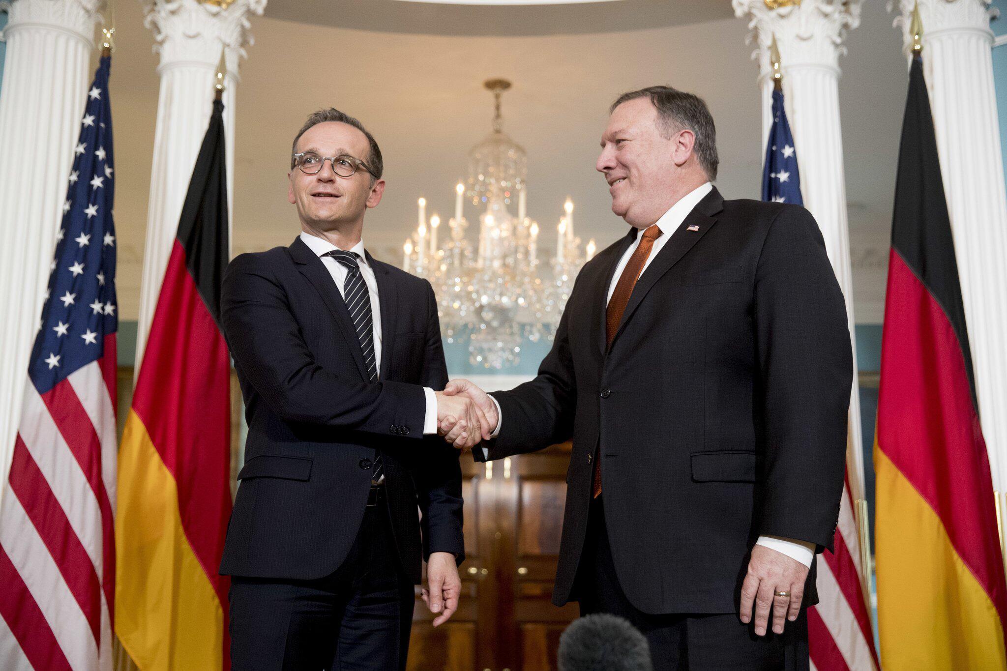 Bild zu Heiko Maas, Mike Pompeo, Washington, Außenminister, Antrittsbesuch, USA