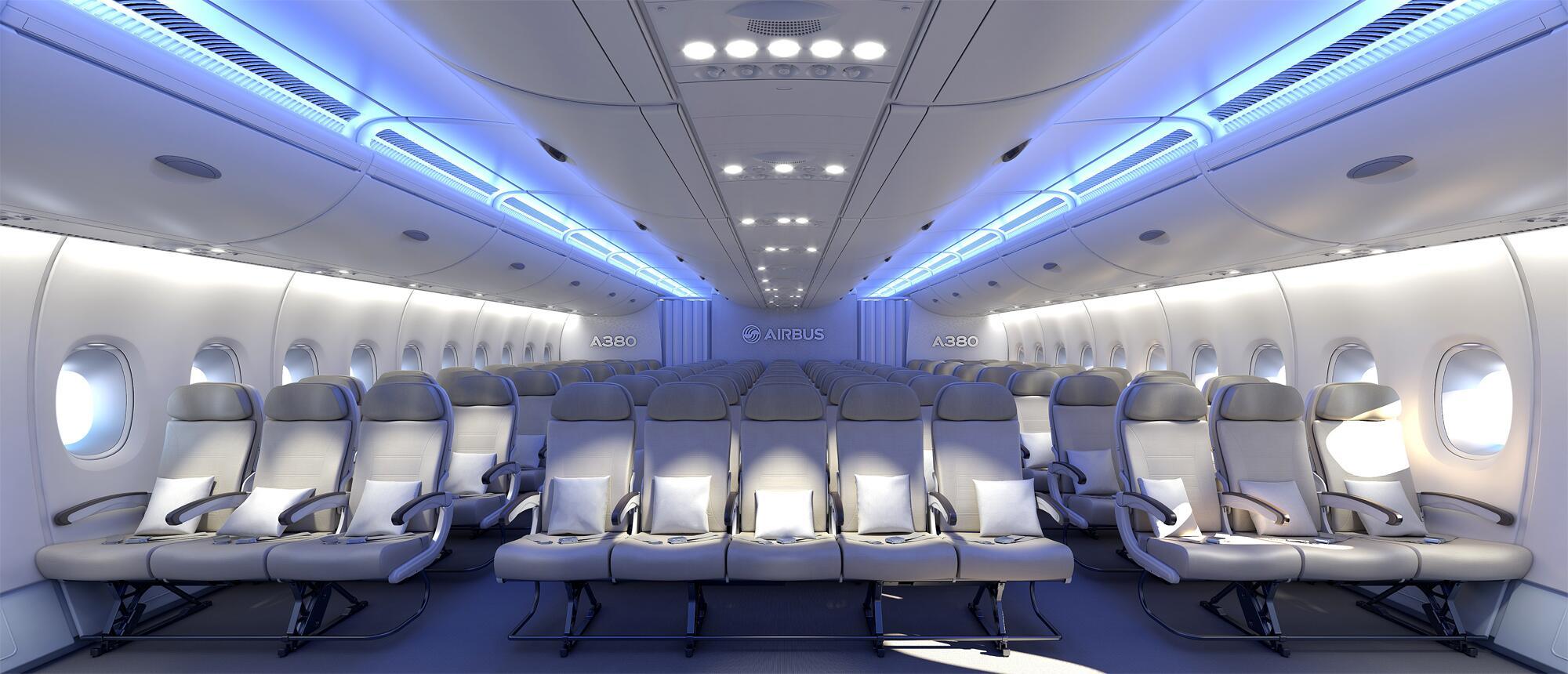 Bild zu Sitzreihen Airbus A380