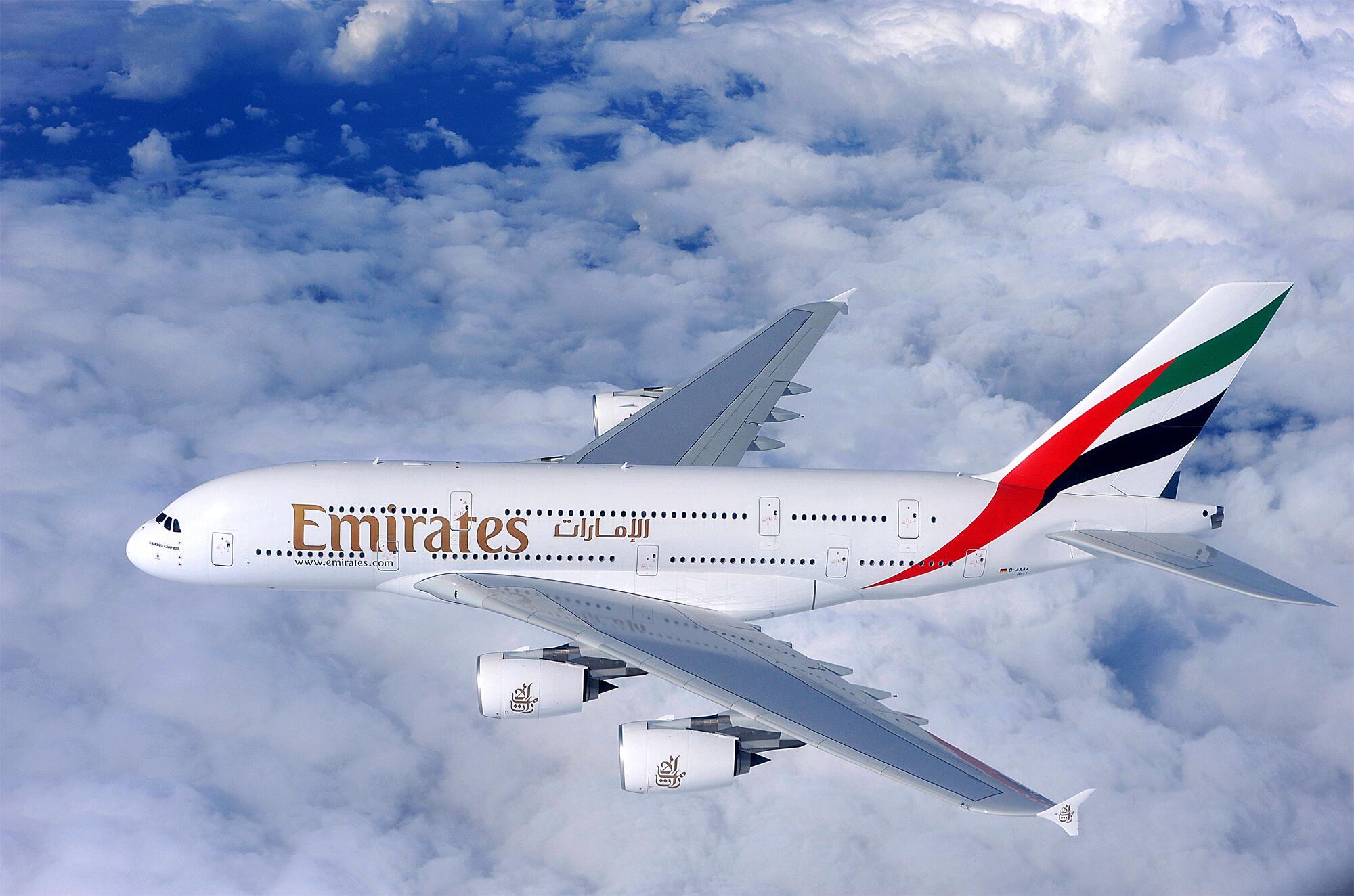 Bild zu Airbus A380 Emirates
