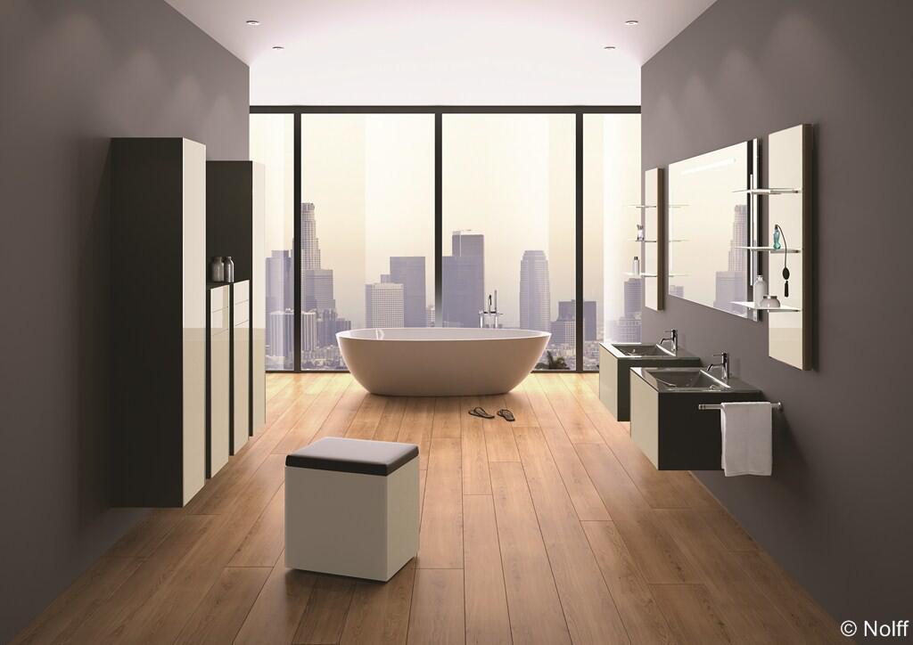 Designtipps f r ihr neues bad - Salle de bain sol bois ...