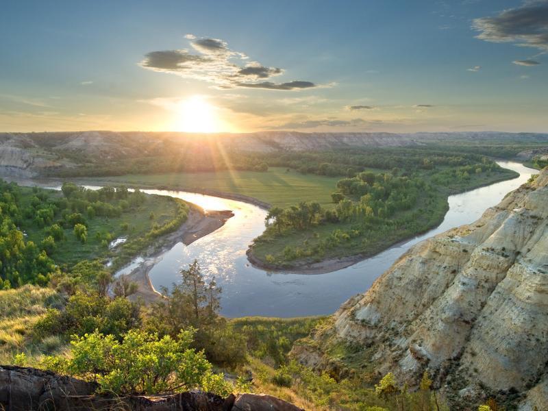 Bild zu Landschaftspanorama in North Dakota