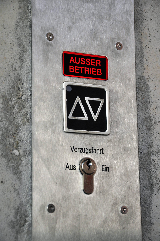 Bild zu Defekter Aufzug
