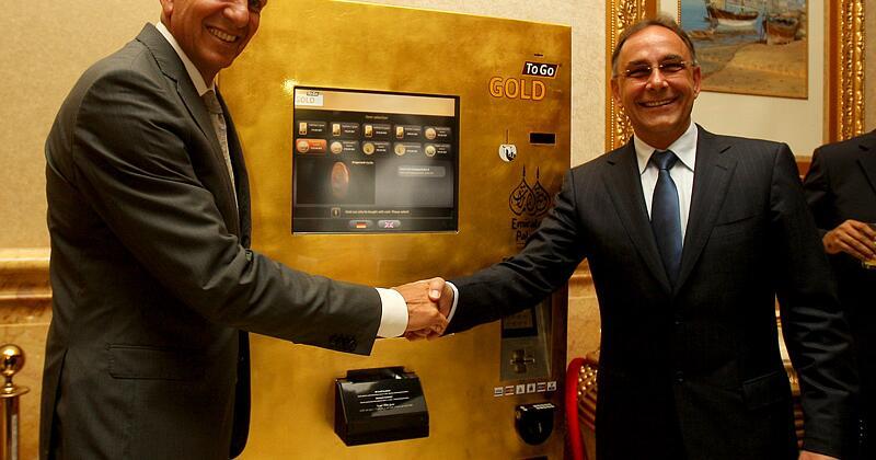 erster goldautomat steht in dubai web de. Black Bedroom Furniture Sets. Home Design Ideas