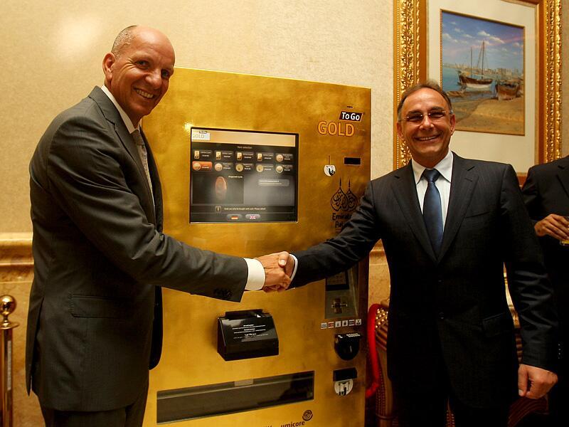 Goldbarren Automat