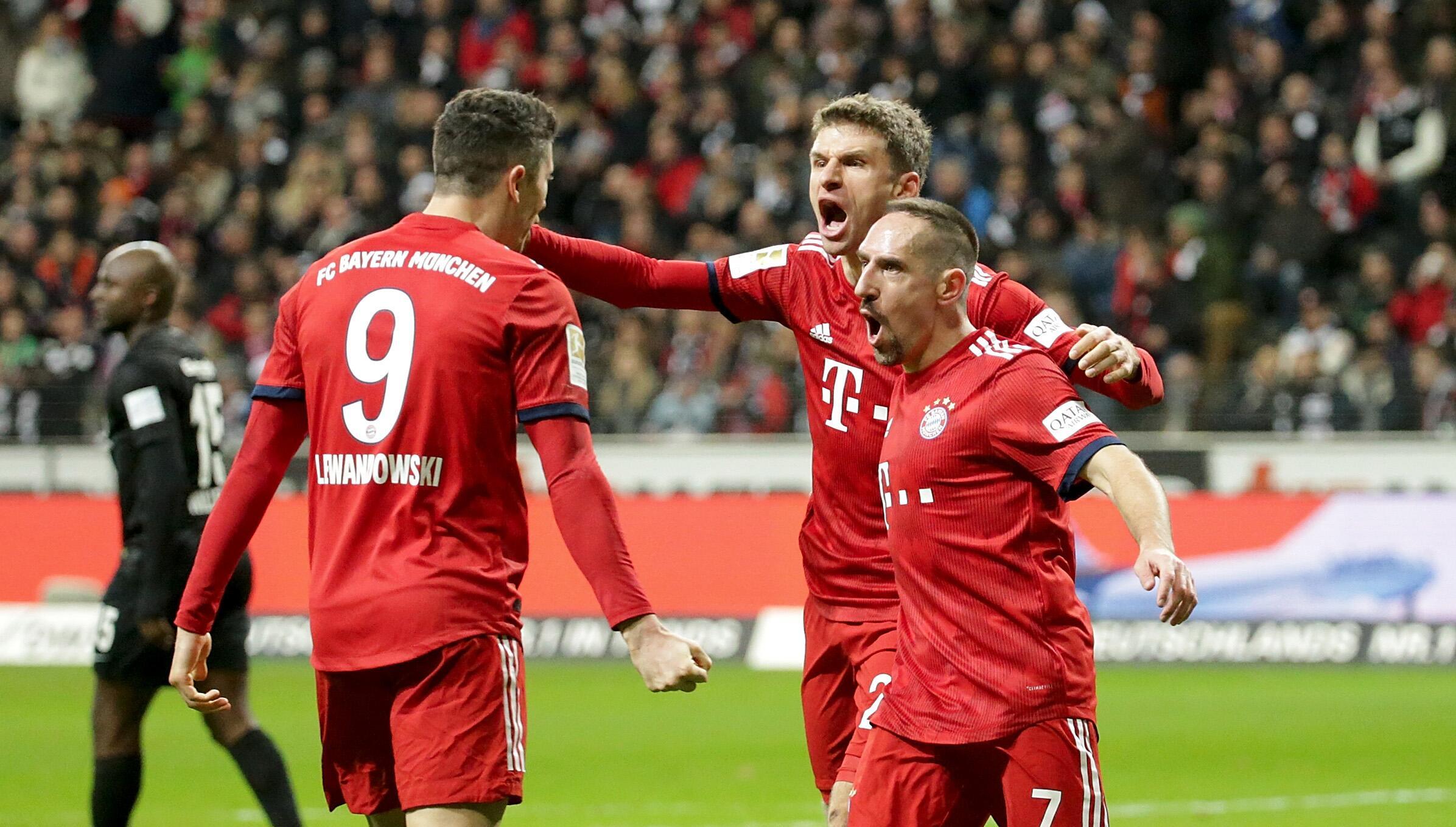 Bild zu Bayern, Bundesliga, Müller, Lewandowski, Ribéry, Frankfurt
