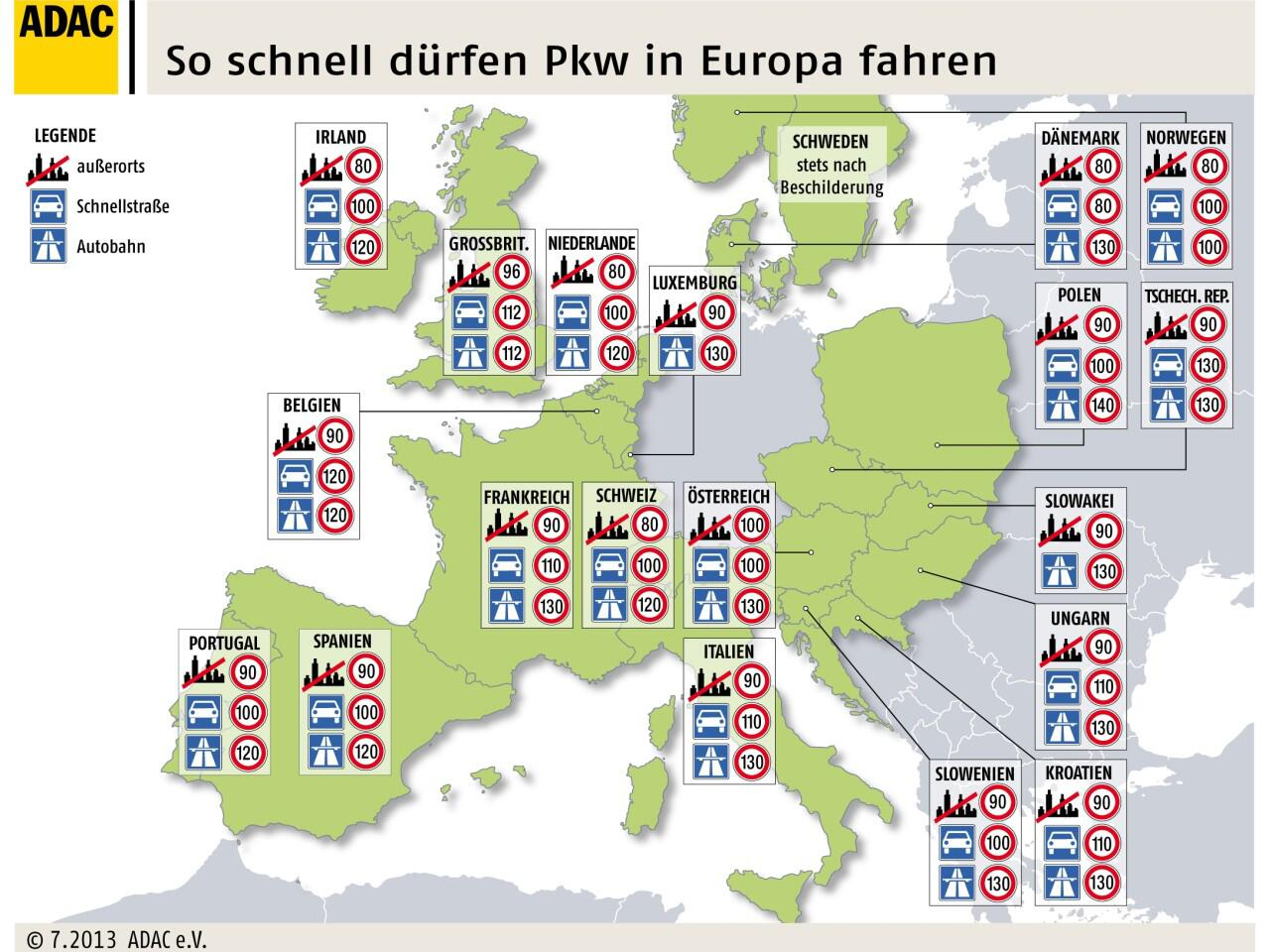 Bild zu Tempolimits in Europa: Bei Missachtung drohen hohe Strafen