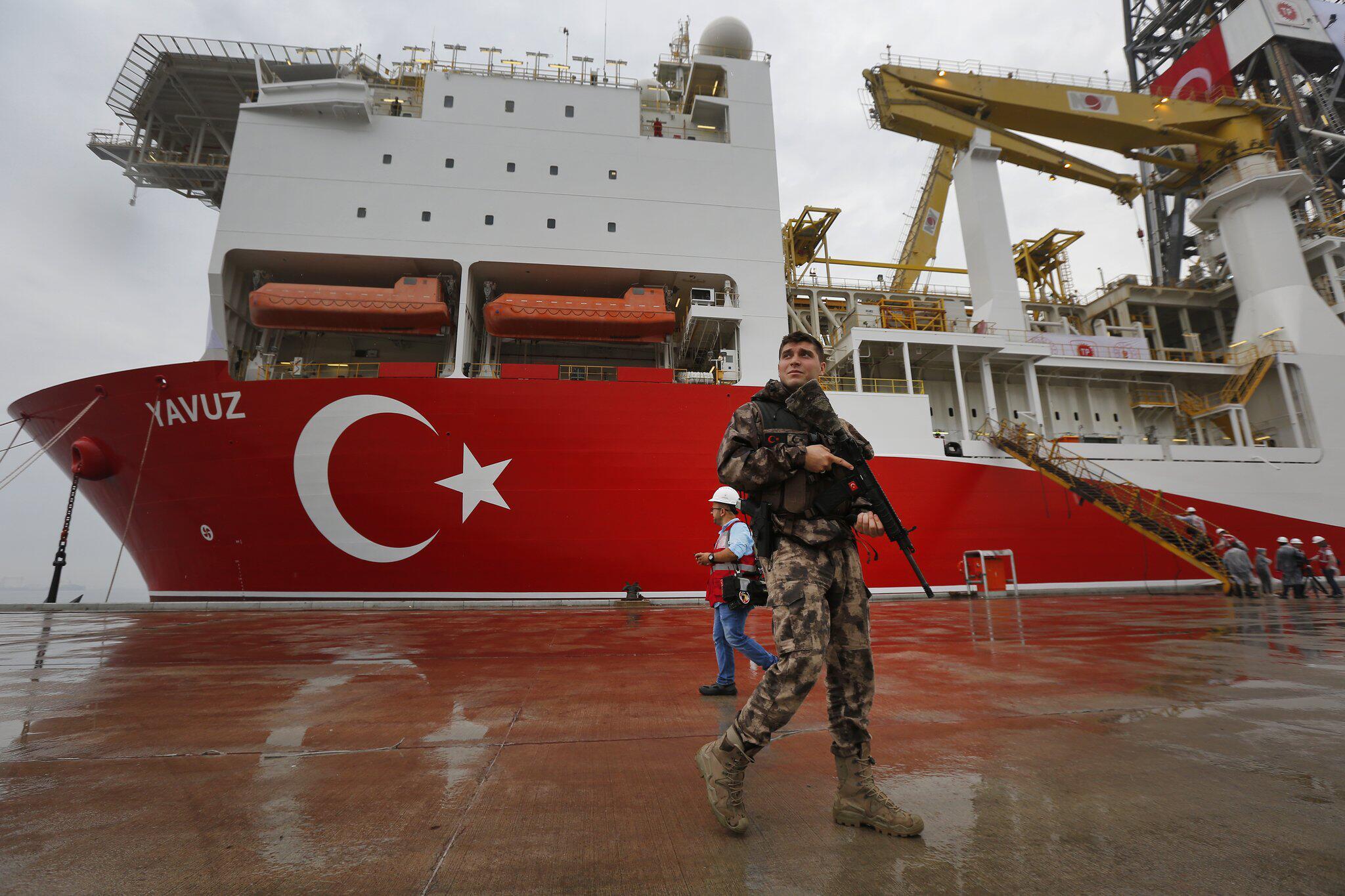 """Bild zu Erdgas-Streit im Mittelmeer - türkisches Bohrschiff """"Yavuz"""""""