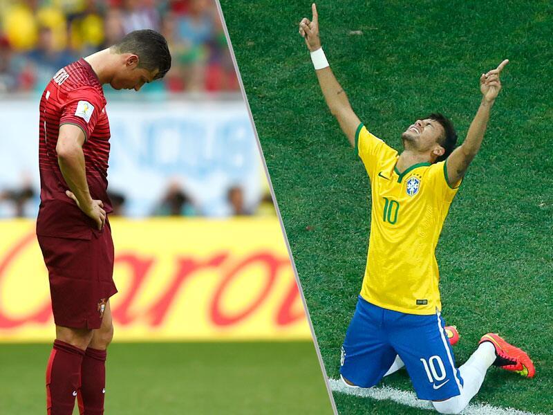 Bild zu Ronaldo und Neymar