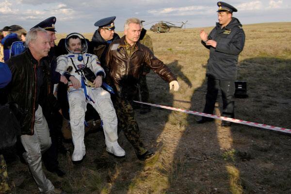 Bild zu Kosmonauten-Landung