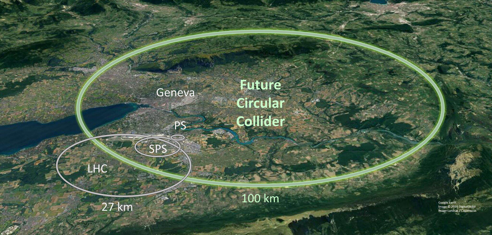 Bild zu Cern - Vorschlag für 100-Kilometer-Teilchenbeschleuniger