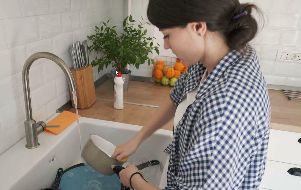Bild zu Küche, Abwasch, Frau