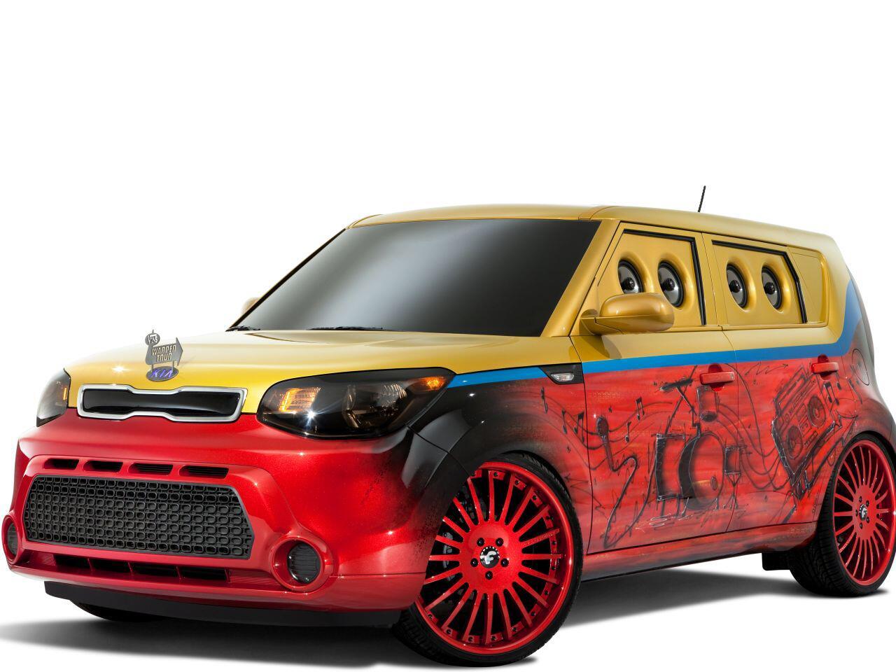 Bild zu Stylischer Kia Vans Warped Tour Soul: Auf den Straßen macht er die Musik