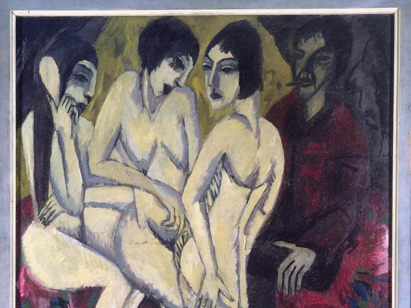 """Bild zu Ernst Ludwig Kirchner - """"Urteil des Paris"""""""
