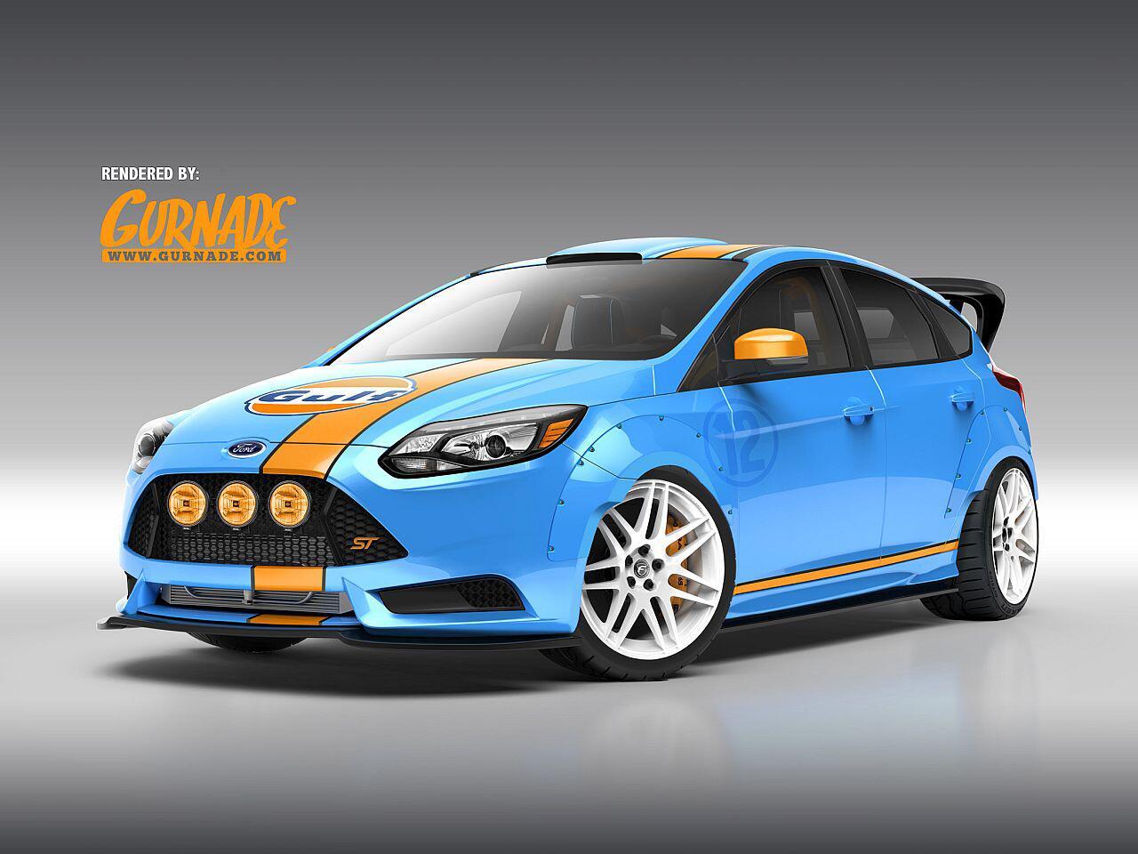 Bild zu Eine Hommage an die legendäre Gulf-Rennschmiede: Der Ford Focus ST von UTI