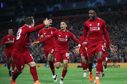 FC Liverpool, FC Barcelona, Champions League, Halbfinale, Tor, Jubel, Origi, Arnold, Shaqiri, Matip