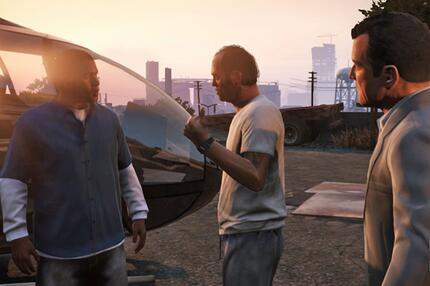 GTA 5: Franklin, Trevor und Michael