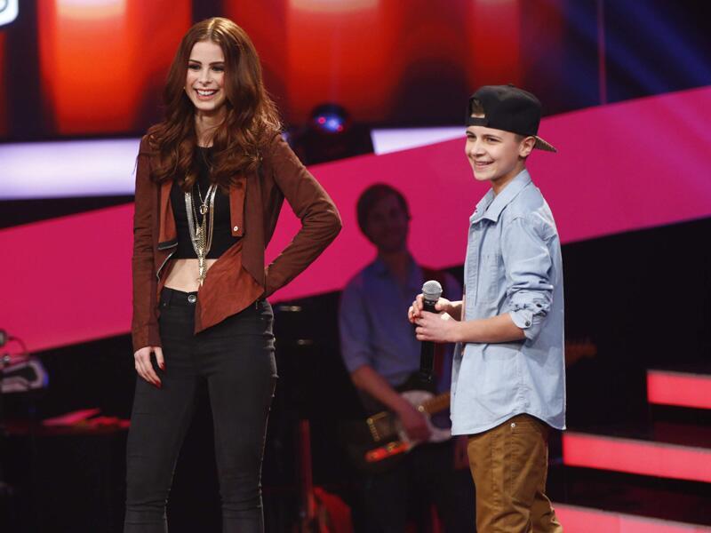 Bild zu Lukas und Lena Meyer-Landrut bei The Voice Kids