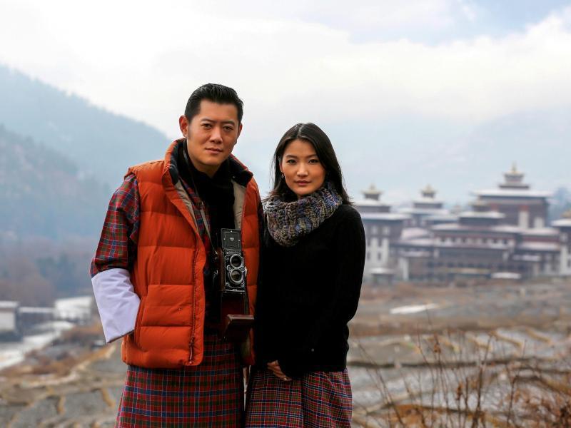 Bild zu König und Königin von Bhutan
