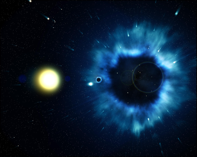 Bild zu Supernova, Schwarzes Loch