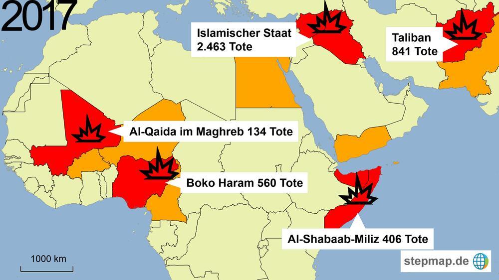 Terror, Terrorismus, Afrika, Naher Osten, Mittlerer Osten