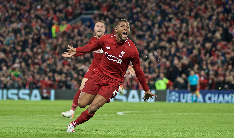 Bild zu FC Liverpool, FC Barcelona, Champions League, Halbfinale, Tor, Jubel, Georginio Wijnaldum, Henderson