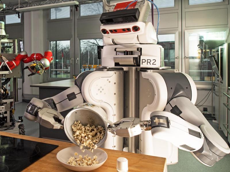 Bild zu Roboter hantiert mit Popcorn