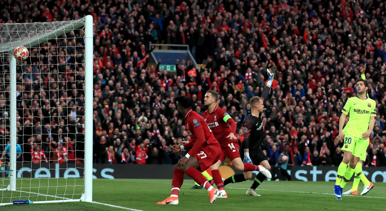 Bild zu FC Liverpool, FC Barcelona, Champions League, Halbfinale, Tor, Divock Origi, Marc-André ter Stegen