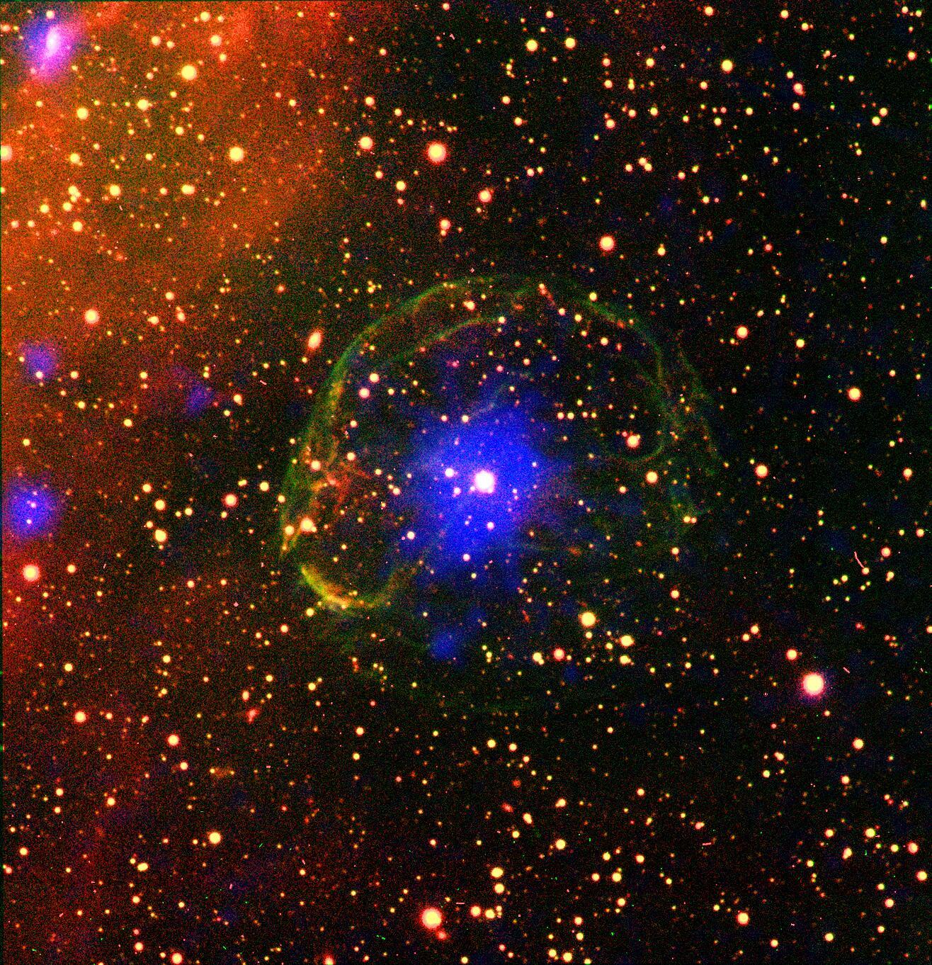 Bild zu Supernova, Neutronenstern
