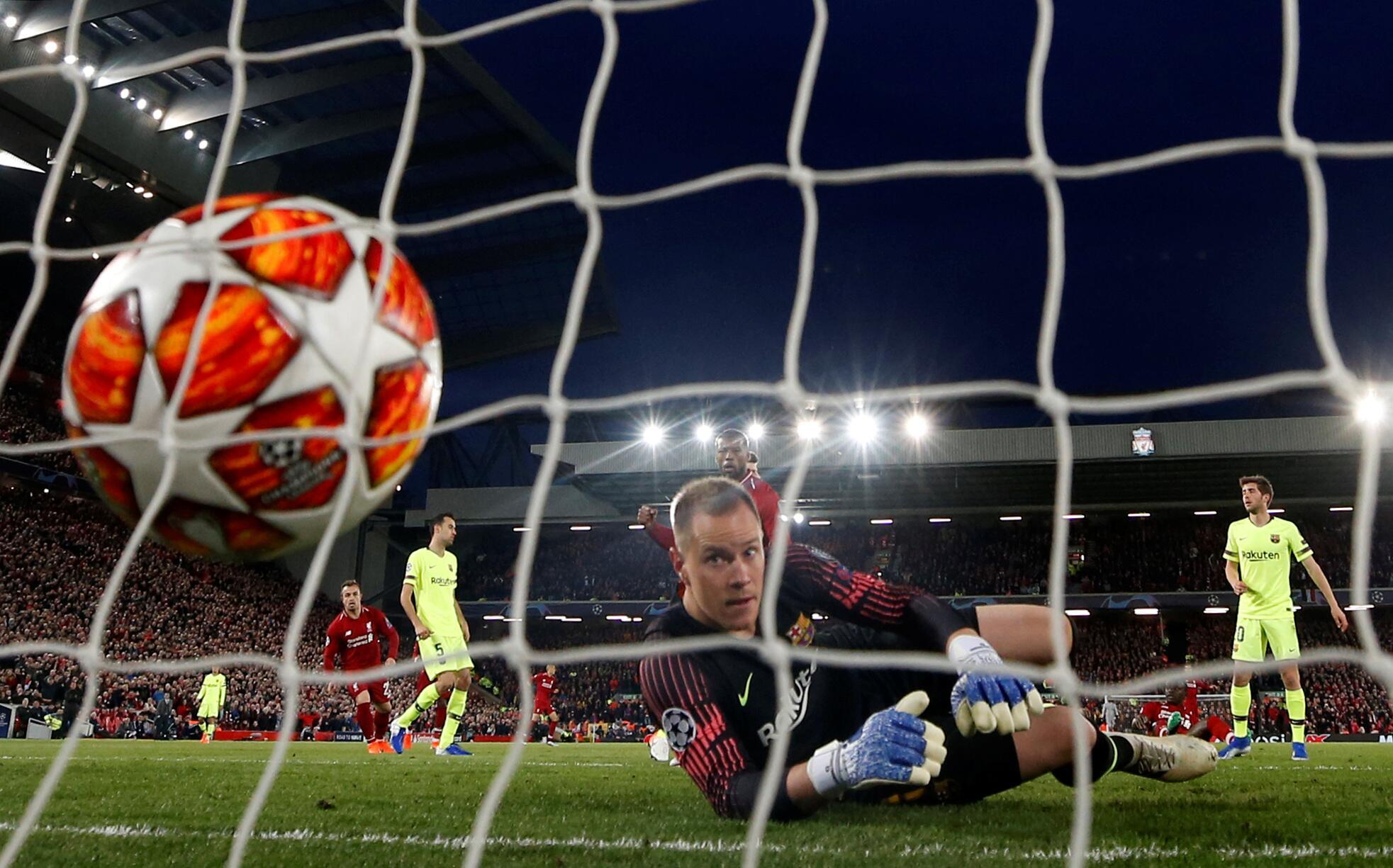Bild zu FC Liverpool, FC Barcelona, Champions League, Halbfinale, Tor, Georginio Wijnaldum, ter Stegen