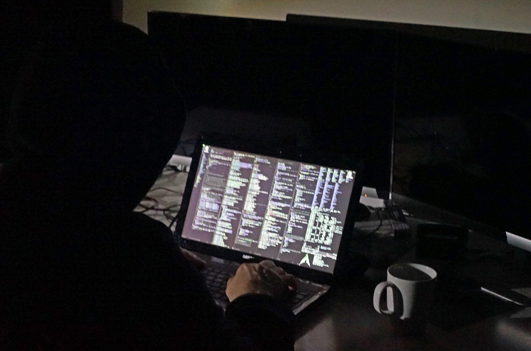 Bild zu Programmcode auf einem Computer
