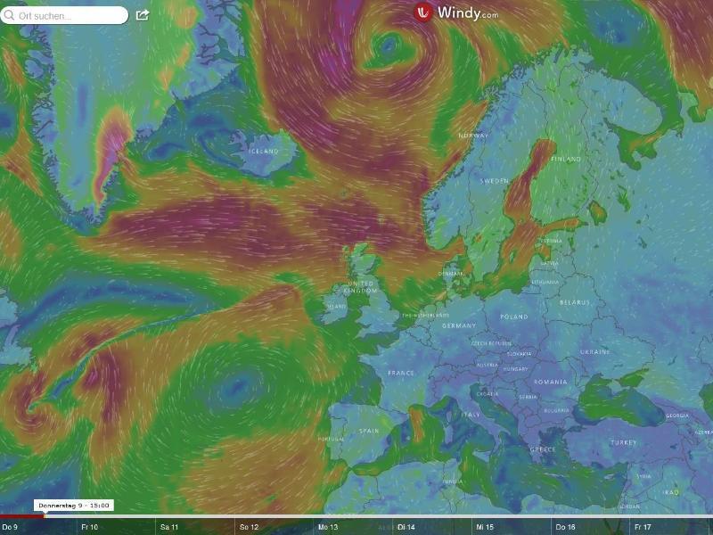 Bild zu Wetter auf windy.com