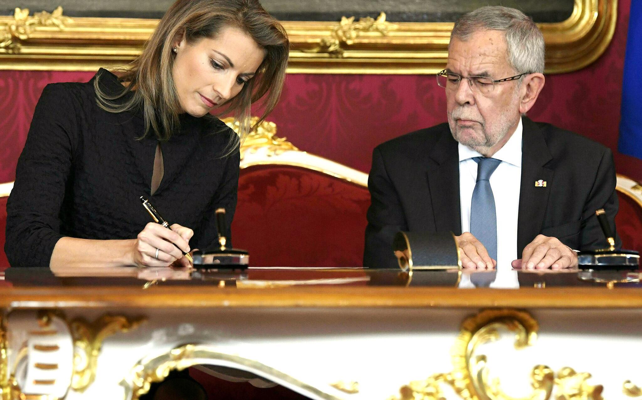 Bild zu Regierungskrise, Österreich, Minister, Vereidigung, Valerie Hackl, Verkehrsministerin, Wien
