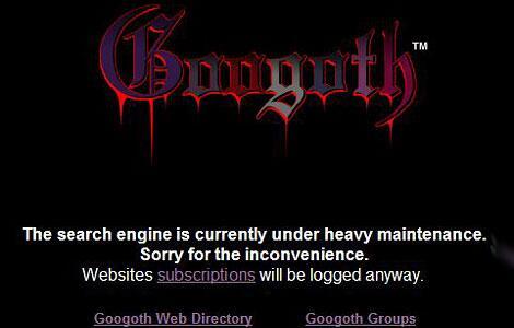 Bild zu Google als Gothic-Klon