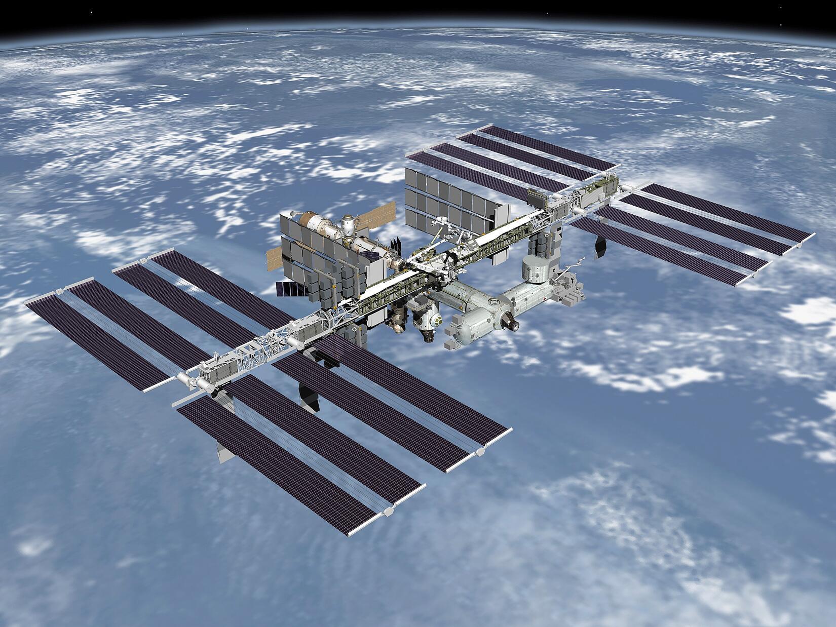 Bild zu International Space Station Graphic