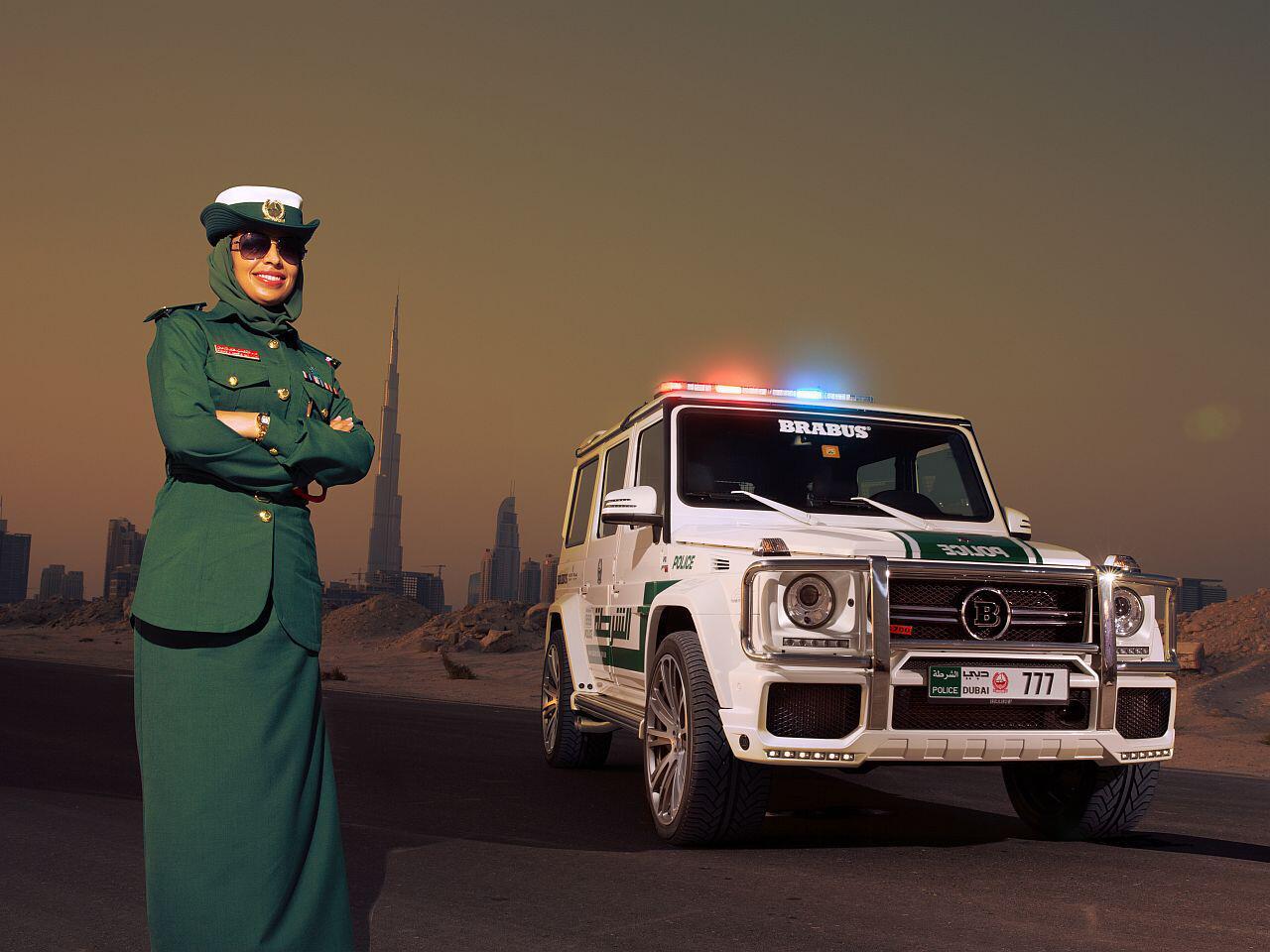 Bild zu Brachiales Showcar für die Polizei von Dubai