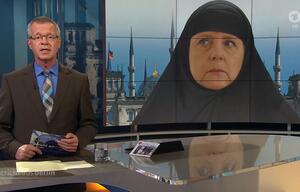 Merkel, ARD, Kopftuch