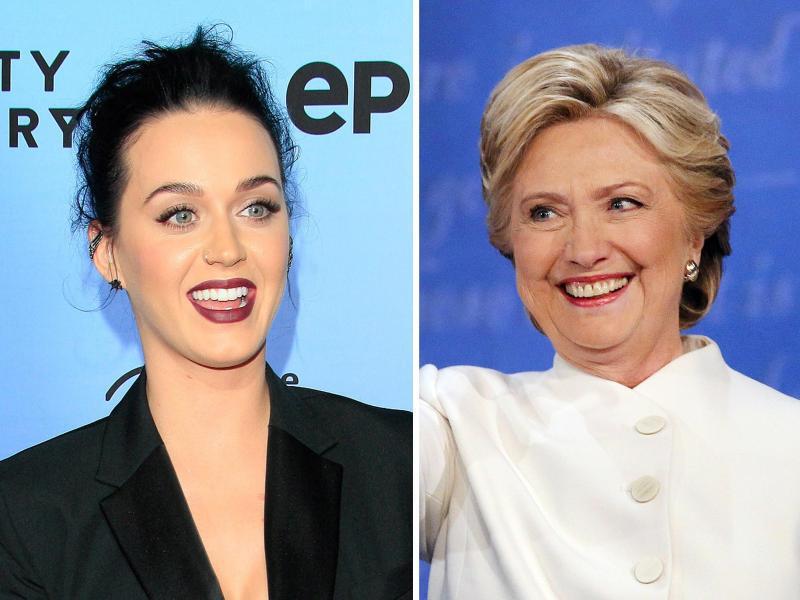 Bild zu Hillary Clinton und Katy Perry