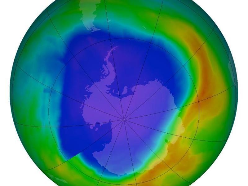 Bild zu Ozonloch über der Antarktis