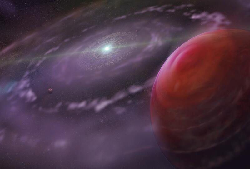 Bild zu Planetensystem von HR 8799