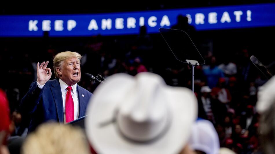 Wahlkampf in den USA - US-Präsident Trump