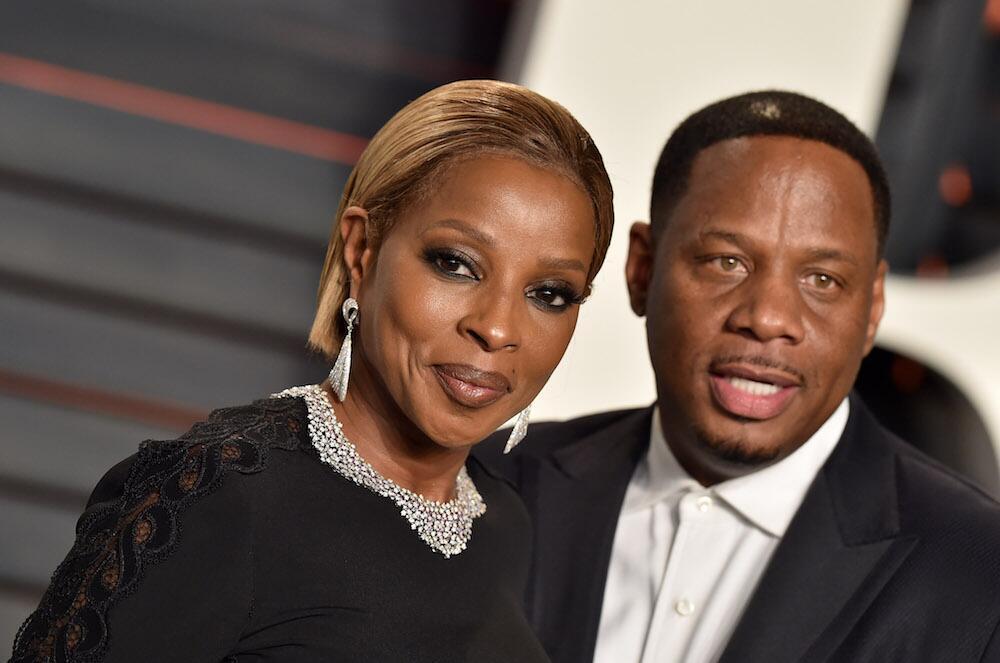 Bild zu Mary J. Blige und Kendu Isaacs bei der Vanity Fair Oscar Party 2016 in Beverly Hills