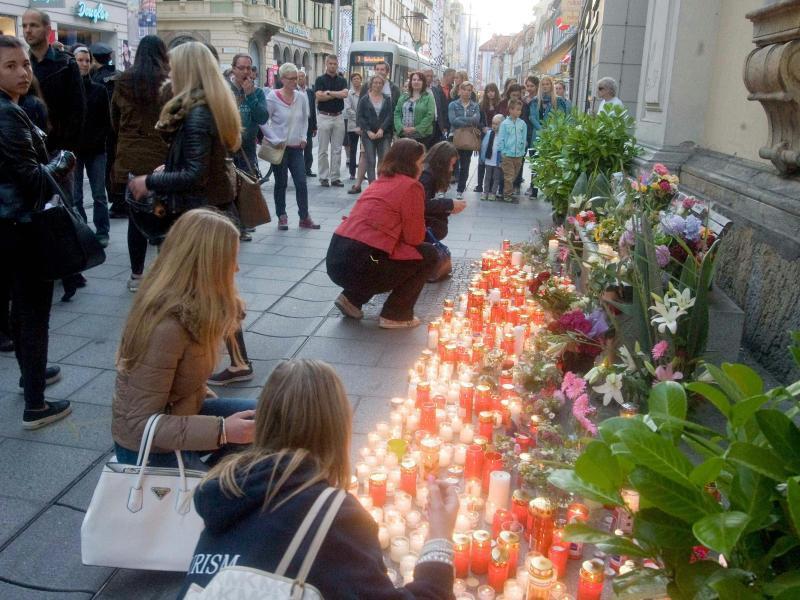 Bild zu Trauer in Graz