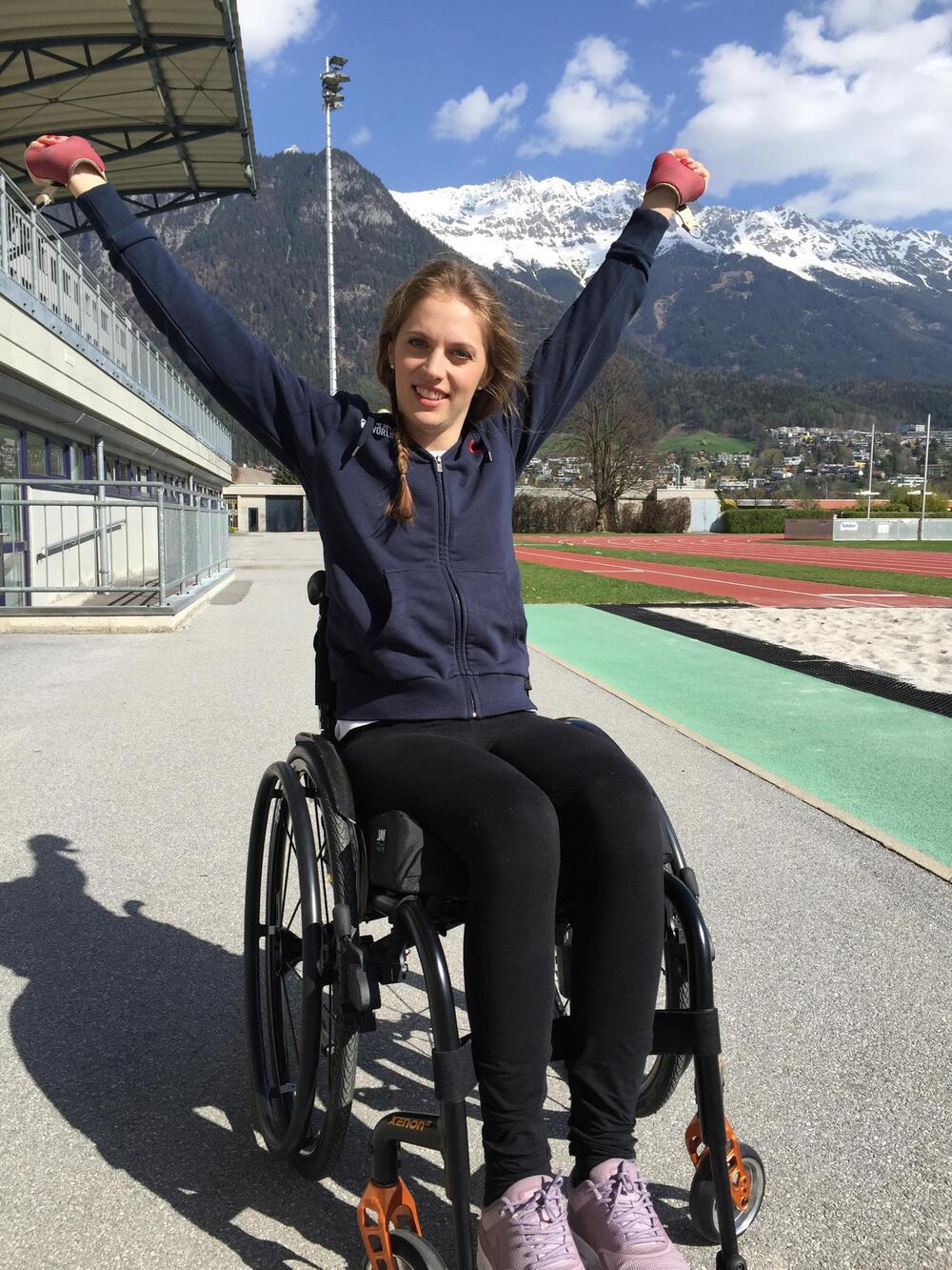 Kira Grünberg, ein Jahr nach ihrem Unfall