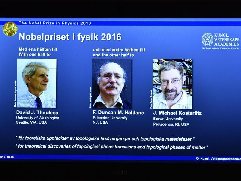 Bild zu Physik-Nobelpreisträger