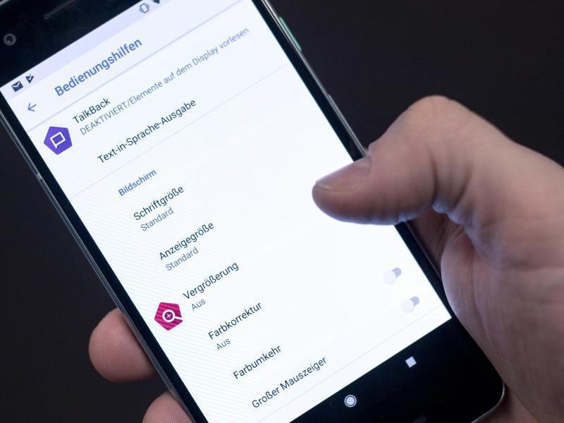 Bild zu Bedienungshilfen bei Android