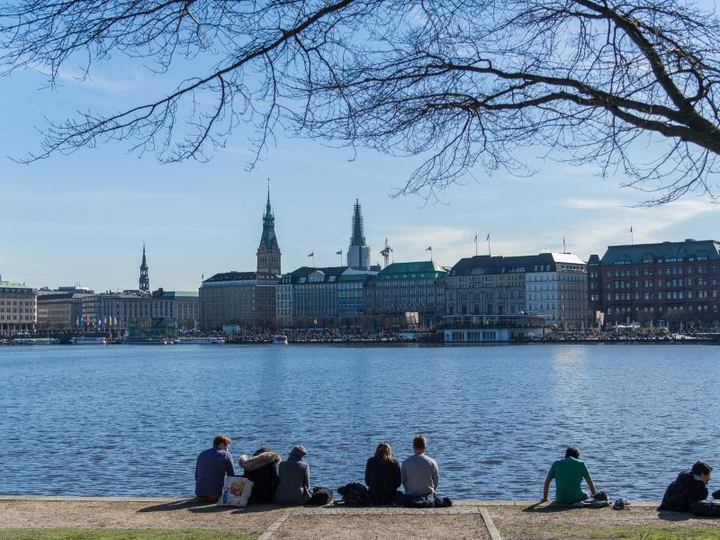 Bild zu Sonnenschein in Hamburg