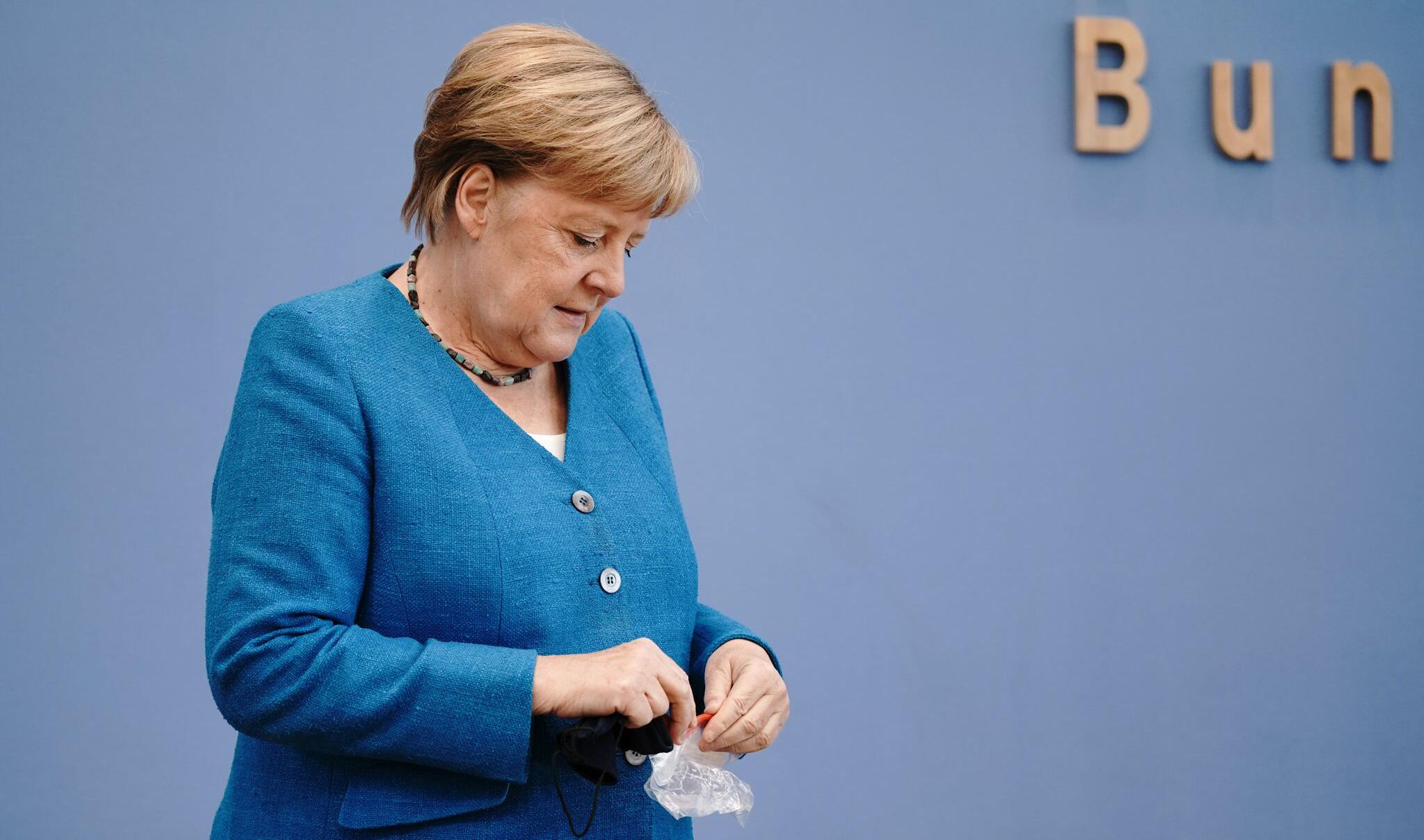 Bild zu Traditionelle Sommer-Pressekonferenz mit Bundeskanzlerin Merkel