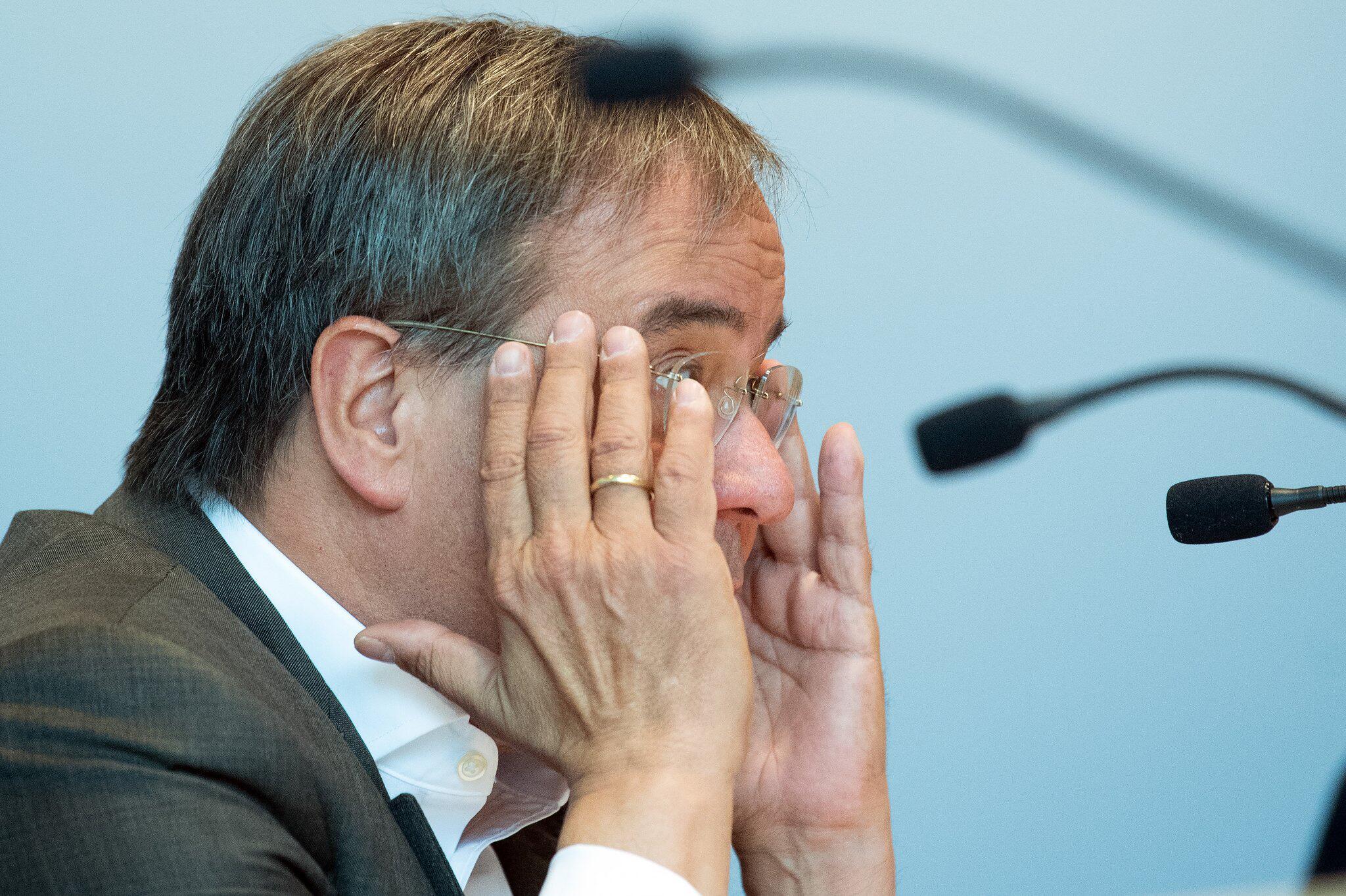 Bild zu PK Ministerpräsident Armin Laschet (CDU)