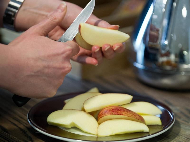 Bild zu Geschnittener Apfel